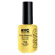 New York Color Long Wearing Nail Enamel, Taxi Yellow Cr�me, 0.45 Fluid Ounce, (pre-stamped christmas stocking)