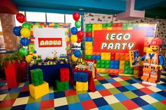 Lego party candy bar