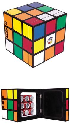 Looking for THE coolest dorm room fridge out there? How about a Rubik's Cube fridge? Perfect size, and awesome looking!