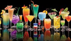 Coctails (many colorfull coctail drinks) ;)