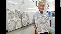 Japanese scientist Yoshinori Ohsumi pictured at the Tokyo Institute of Technology campus in Yokohama