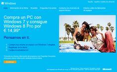 ¿Te acabas de comprar un PC? Cómo actualizarlo a Windows 8. Para ello, deben registrarse para participar en la promoción y el 26 de octubre la empresa los avisará para que descarguen su copia de la actualización a Windows 8 Pro. También se puede obtener a través de disco físico, pero hay que solicitarlo pagando un costo adicional.