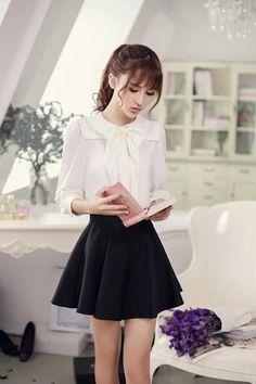 Japanese Fashion - Single color waist A word chiffon skirt - AddOneClothing - 1