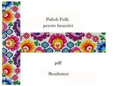 Peyote bracelet pattern made with Miyuki Delicas 11 whose colours you can easily…