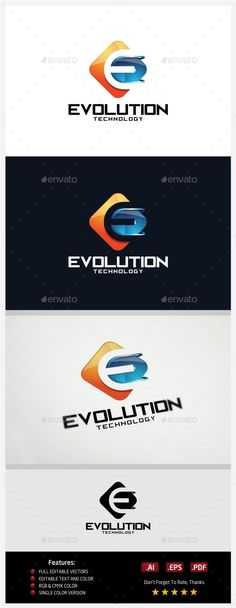 Evolution Technology  Logo Design Template Vector #logotype Download it here: http://graphicriver.net/item/evolution-technology-logo/10430410?s_rank=1467?ref=nexion