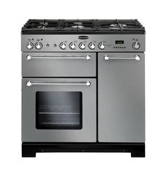 Buy Rangemaster 98760 Kitchener Dual Fuel Range Cooker - Stainless Steel from Appliances Direct - the UK's leading online appliance specialist Electric Cooker, Electric Oven, Casserole En Fonte, Ranger, Dual Fuel Range Cookers, Electric Range Cookers, Freestanding Cooker, Domestic Appliances, Kitchens