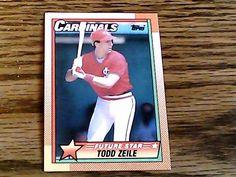 Topps 1990 todd zeile cardinals card 162