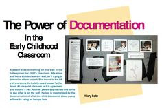 Article on documentation from NAEYC. View early education resources at www. ~Shari at TFC Inquiry Based Learning, Project Based Learning, Early Learning, Emergent Curriculum, Preschool Curriculum, Kindergarten, Early Education, Early Childhood Education, Reggio Emilia