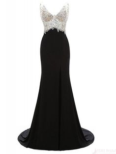 Beading Bodice Split Long Satin Prom Dresses Evening Dresses  SIMIBridal  promdresses  Long Prom Gowns 182225d3f602