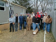 Volunteers behind the scenes of New Home Construction #aurora #oswego http://www.foxvalleyhabitat.org  Help Others and Volunteer Today!