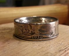 Walking Liberty Half Dollar Coin Ring by JoshsCoinRings on Etsy, $45.00