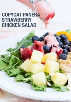 If you love Panera's strawberry chicken salad, you will LOVE this copycat recipe.