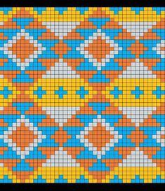 Tapestry Crochet Patterns, Bead Loom Patterns, Cross Stitch Patterns, Beading Patterns, Crochet Diagram, Crochet Chart, Knitting Charts, Knitting Patterns, Mochila Crochet