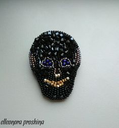 brooch skull , embroidered brooch, brooch beads,handmade jewelry, skull accessories, gift for her,brooch