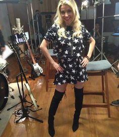 Luiza Possi de Lebôh para a gravação do The Voice Brasil!