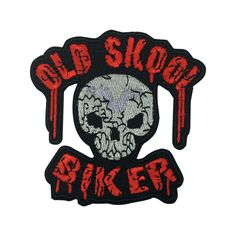Old School Biker Skull Patch Punk Iron On Patch Hat patches Embroidered sew on patches
