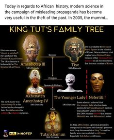 Family Tree Black History Books, Black History Facts, African Mythology, Egyptian Mythology, Ancient Egypt History, African Royalty, History Timeline, African American History, Ancient Mysteries