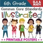 Bring the sixth grade math Common Core Standards to life with these easy-to-use, illustrated posters. They are perfect for showing students, parent...