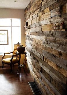 Rustic Pallet Wood Wall: - 30 Easy DIY Pallet Ideas for Your Next Projects | 101…