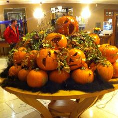 Beautiful pumpkin display at a local hotel in County Wexford,Ireland.