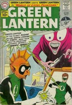 Issue May The World of Living Phantoms! Hal Jordan is not the only Green Lantern in this universe! Meet Tomar-Re, the Green Lantern of Sector Dc Comic Books, Vintage Comic Books, Vintage Comics, Comic Book Covers, Comic Book Characters, Silver Age Comics, Series Dc, Dc Comics, Phantom Comics