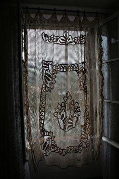 Lace Curtain Bedcover Bedspread Tablecloth by FromParisToProvence, €99.00