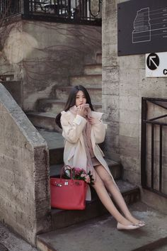 winter season daily 2016 feminine& classy look(mt) heart and Korean Fashion Winter, Korean Fashion Trends, Asian Fashion, Fashion Kids, Girl Fashion, Fashion Outfits, Womens Fashion, Fashion Design, Korea Fashion