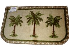 Beautiful Tropical Palm Trees Rug $19.95