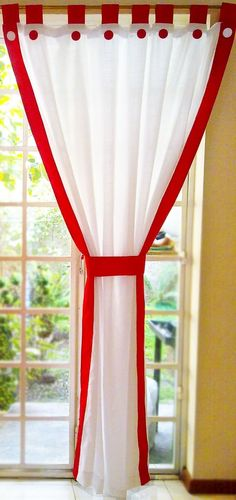 como hacer cortinas navideñas how to make Christmas curtains Making Pleated Curtain PaGreat ideas! Cute Curtains, Crochet Curtains, Modern Curtains, Curtains With Blinds, Curtain Patterns, Curtain Designs, Iron Decor, Little Girl Rooms, Kitchen Curtains