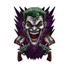 Shop Crossjokes joker t-shirts designed by Andriu as well as other joker merchandise at TeePublic. Logo Gamer, Joker Character, Joker Kunst, Clown Horror, Joker T Shirt, Joker Art, Comics Universe, Hollywood Actor, Hulk