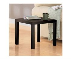 End Side Table Coffee Contemporary Living Room Office Accent Furniture Espresso #Parson #Contemporary