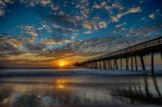 Painted Skies ~ Sunset at Imperial Beach Pier by Evgeny Yorobe Photography