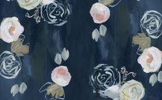Blue Florals #desktop #wallpaper