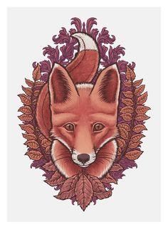 """Autumn Fox"" by Tom Hamel."