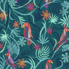 Spring Summer 2020 Print & Pattern Trend forecast - Bird Life. - Patternbank Print Patterns, Tropical Prints, Spring Summer, Bird, Van, Painting, Birds, Painting Art, Paintings