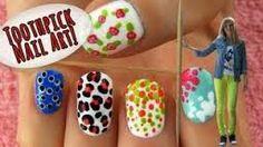 Sara beauty corner toothpick nail art