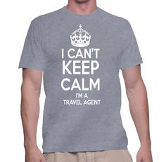 I am not in hurry I just can't keep calm because I am a travel agent :-P TIP: SHARE it with your friends, order together and save on shipping! This Exclusive Tshirt design is ONLY sold here on ShirtSk