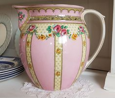 This jug is just so pretty sitting on a white dresser. What do you think? #PaintPotHome #DrapersYard #Chichester #Jug #Pink