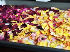 *drying rose petals. You can use roses from a bouquet or fresh from the garden. All you need is...