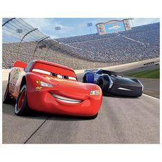 Waan je midden in de Disney film Cars 3 met dit XL Posterbehang van Walltastic. Plak de 12 panelen met behulp van behangplaksel of dubbelzijdig tape van Walltastic op de muur en zie een prachtige plaat van de racende Lightning McQueen en Jackson Storm verschijnen. De plaat is in totaal ca. 244 x 305 cm groot. Inclusief instructies. Afmeting: ca. 305 x 244 cm - Walltastic Posterbehang Cars 3 XXL