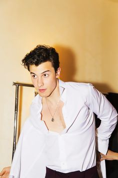 Shawn Mendes getting ready for Costume Institute Gala 2018, photographed by Levi Mandel for W Magazine in New York City (May 7, 2018).