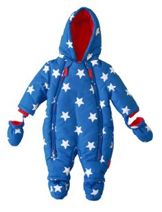 b0f1d9e6287 Toby Tiger Unisex Baby Star Snowsuit All-In-One Blue  White 0 - 3 Months