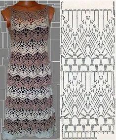 New Woman's Crochet Patterns Part 37 - Beautiful Crochet Patterns and Knitting Patterns Crochet Short Dresses, Black Crochet Dress, Crochet Skirts, Crochet Blouse, Crochet Shawl, Crochet Clothes, Crochet Stitches, Knitting Patterns, Stitches