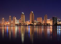 San Diego Skyline - Early Morning by Ryan Wentzel, via Flickr