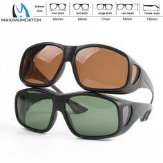 Maximumcatch Clip On Sunglasses Polarized Sunglasses for Fishing 2 Colors Outdoor Sports Glasses Fishing Sunglasses
