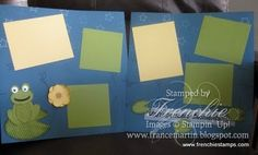Frog Scrapbook pages....