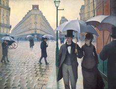 Paris Street in Rainy Weather (Jour de pluie à Paris)1876-1877 Gustave Caillebotte