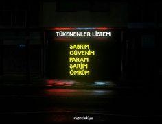 Kalmadı 🤷♀️ My Life My Rules, The Turk, Weird Dreams, Neon Lighting, Cool Words, Karma, Neon Signs, Erdem, Wallpaper