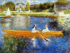 The Seine at Asnières (The Skiff) by Pierre-Auguste Renoir