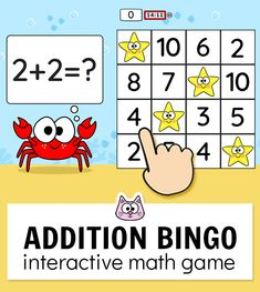 Your students will have a blast practicing addition and subtraction within 20 with this fun and engaging BINGO game. Bingo Games, Math Games, Numeracy Activities, Vocabulary Games, Learning Games, Maths, Educational Websites For Kids, Educational Games, Kitty Games